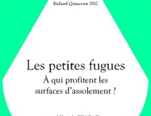 Journée Richard Quincerot 2017 – A qui profitent les surfaces d'assolement ?