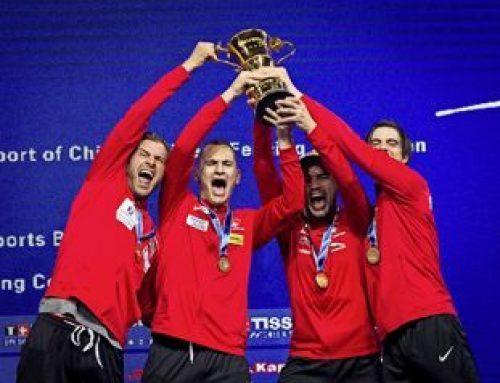 Félicitations à l'équipe suisse d'escrime !